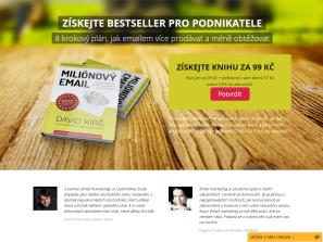 Prodejní stránky vaší knihy