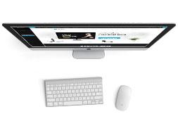 Ukázka webové šablony MioWeb pro Wordpress namonitoru počítače