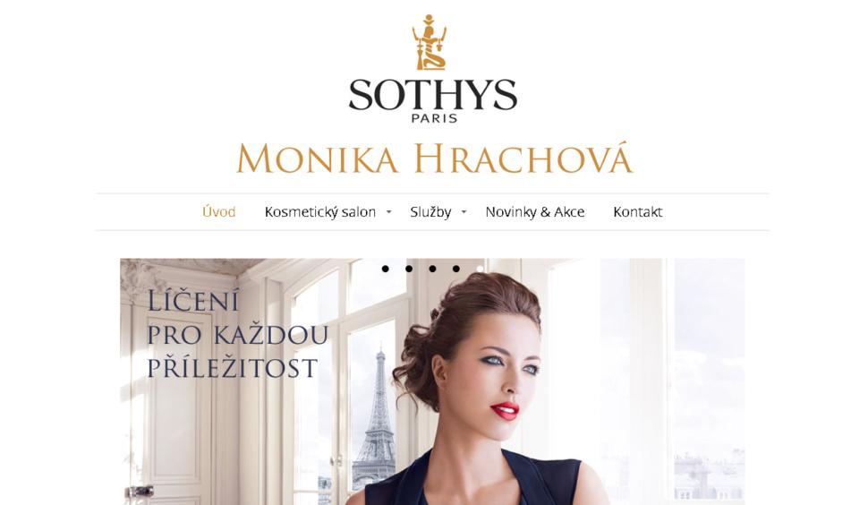 web kosmetického salónu
