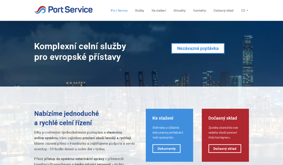 firemní webové stránky portservice.cz