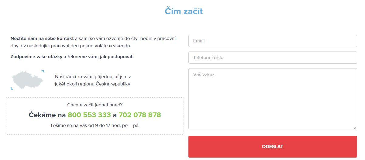 jak by měl vypadat kontaktní formulář webu