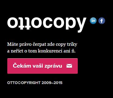 Vtipná výzva k akci na webu Ottocopy