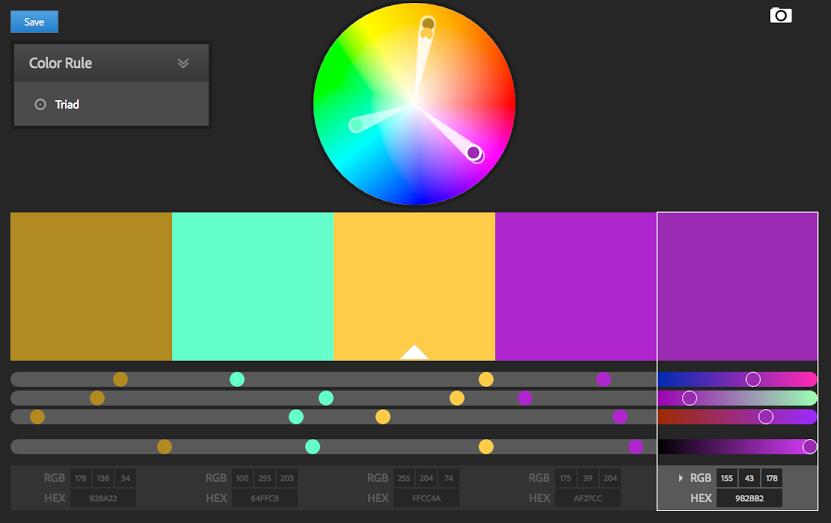 Jak zvolit barevné kombinace webu