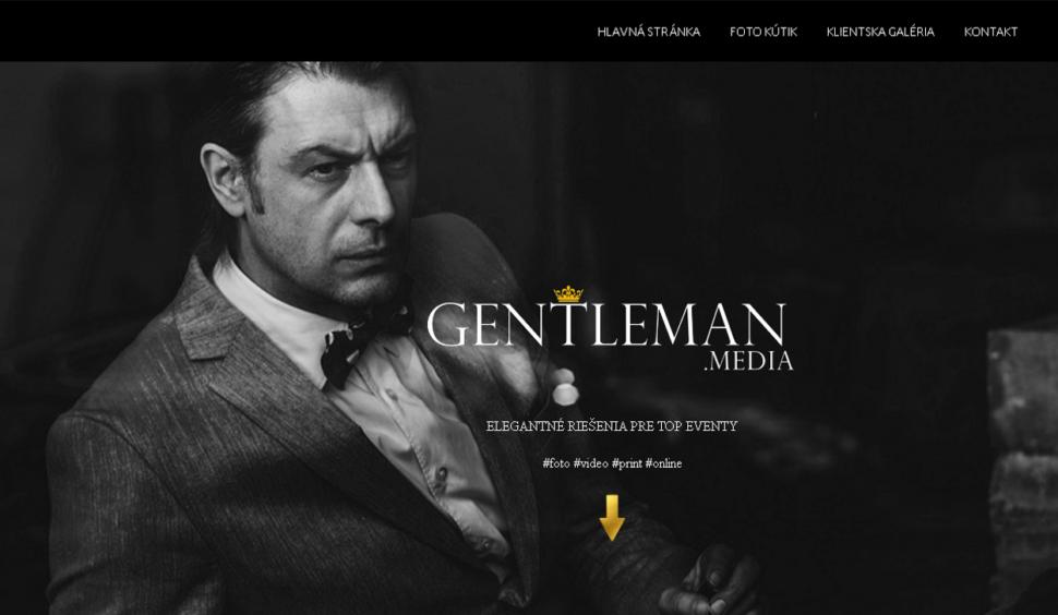webové stránky snabídkou foto avideo služeb