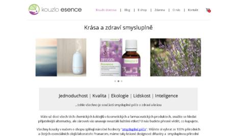 E-shop s esenciálními oleji
