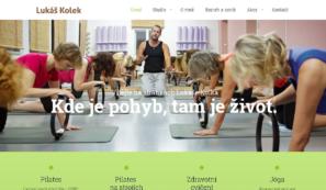 webové stránky instruktora pilates ajógy
