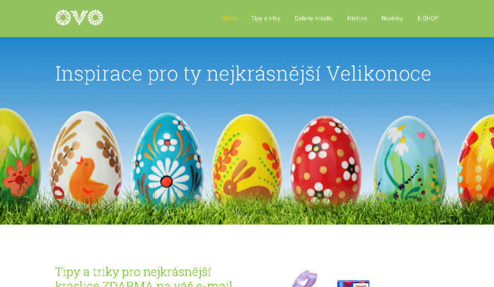 Design webu mojevelikonoce.cz