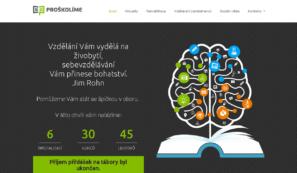 webové stránky snabídkou vzdělávacích kurzů