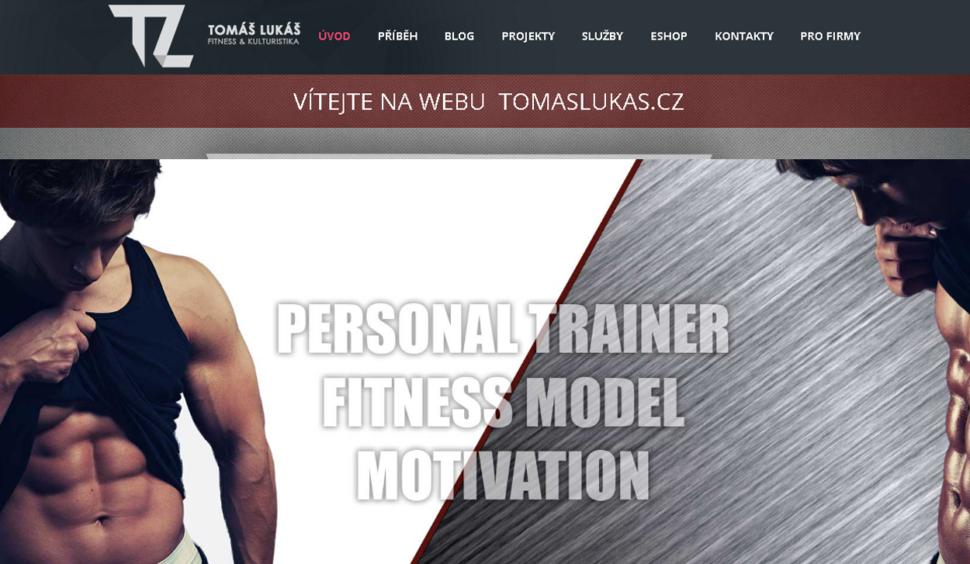 webové stránky pro fitness trenéra
