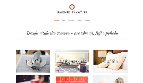 Web interiérové designerky