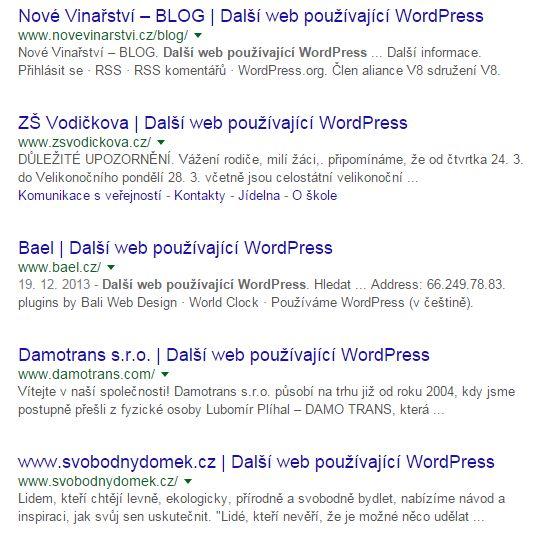 automaticky generovaný titulek wordpressu