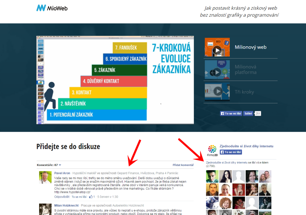 váš web oživí fb diskuze