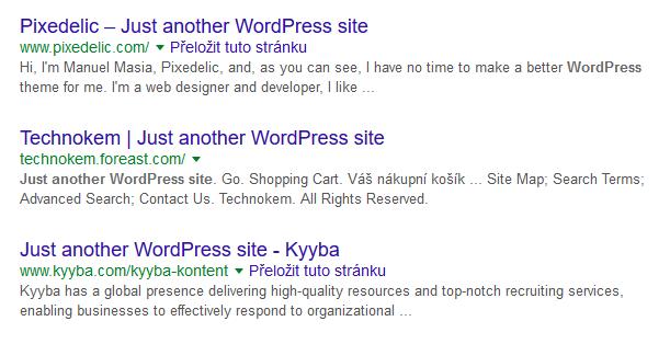 seo chyba duplicitní titulek wordpressu