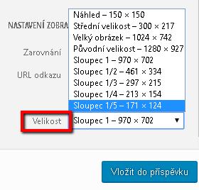 Úprava velikosti fotek při vkládání naweb
