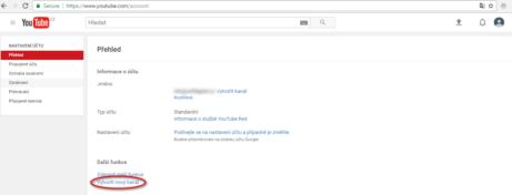4-založení youtube kanálu