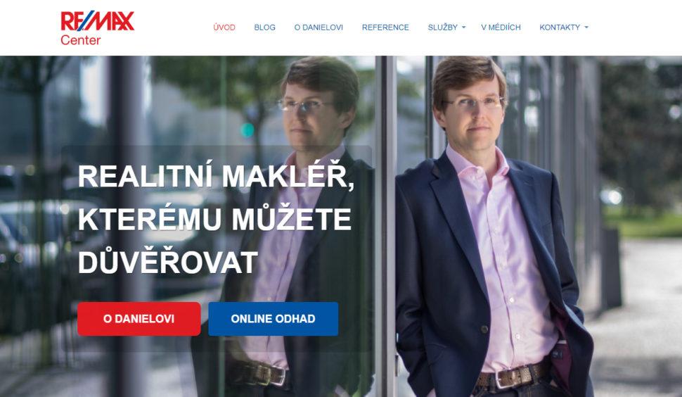 webové stránky realitního makléře