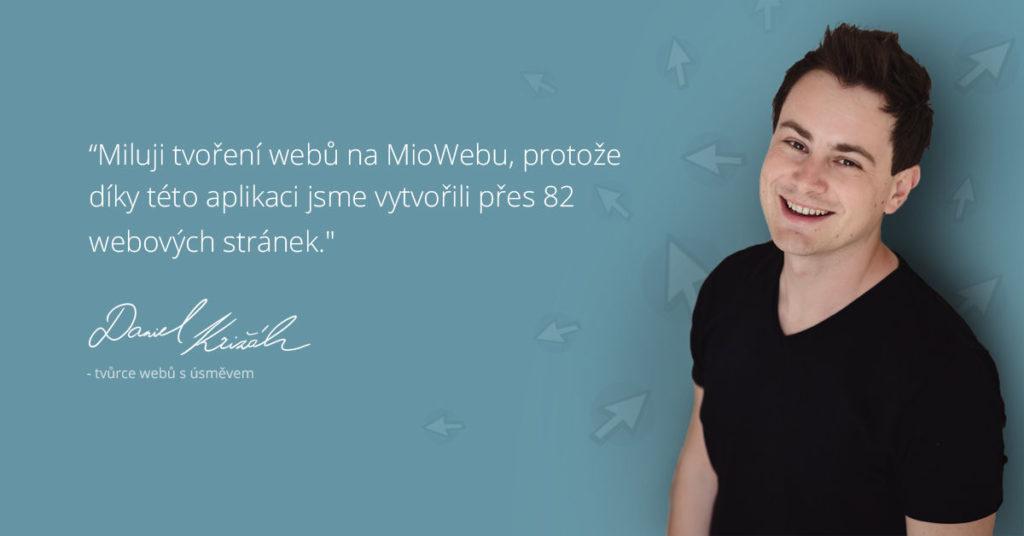 Dan miluje web