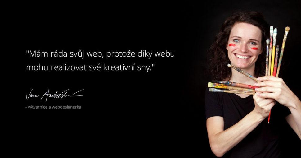 Jana miluje web