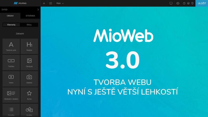 MioWeb 3.0 - To jsou webové stránky jedna radost